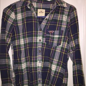 Hollister flannel shirt small
